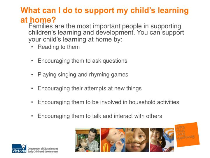 What can I do to support my child's learning at home?