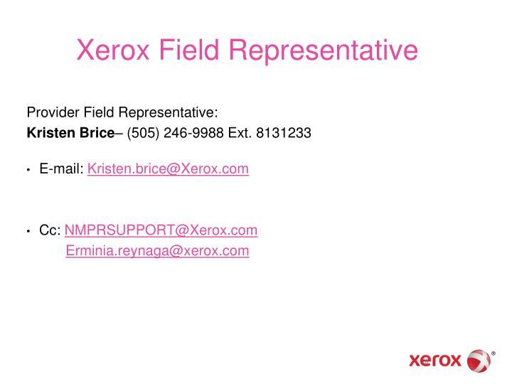 Xerox Field Representative