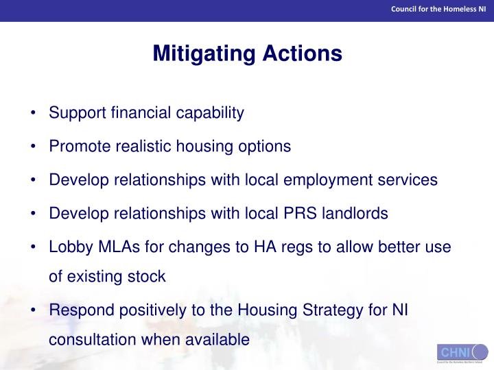Mitigating Actions