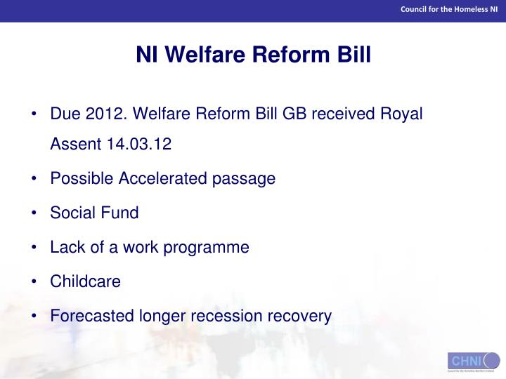 NI Welfare Reform Bill