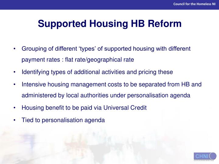 Supported Housing HB Reform