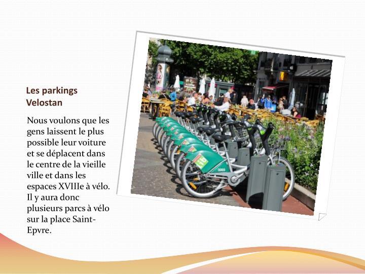 Les parkings Velostan