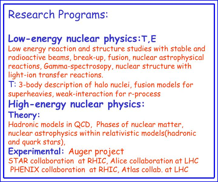 Research Programs: