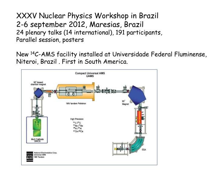 XXXV Nuclear Physics Workshop in Brazil