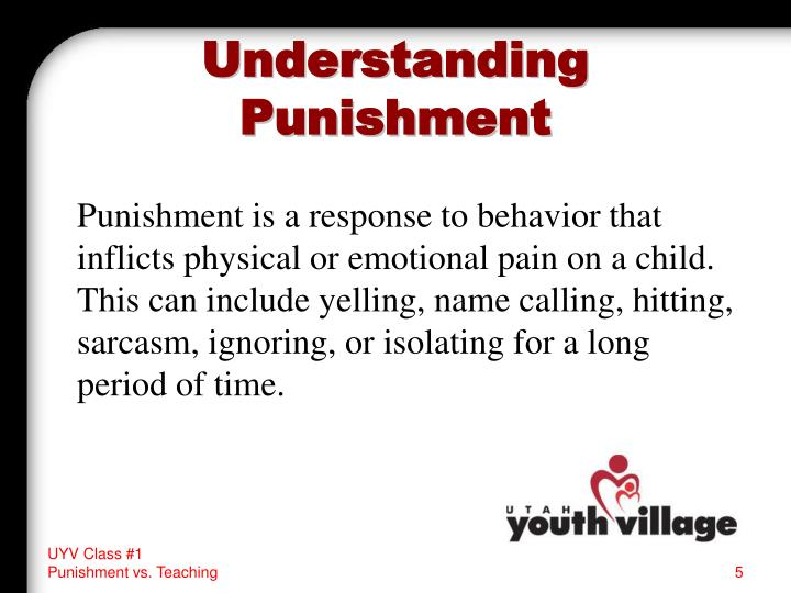 Understanding Punishment