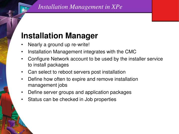 Installation Management in XPe