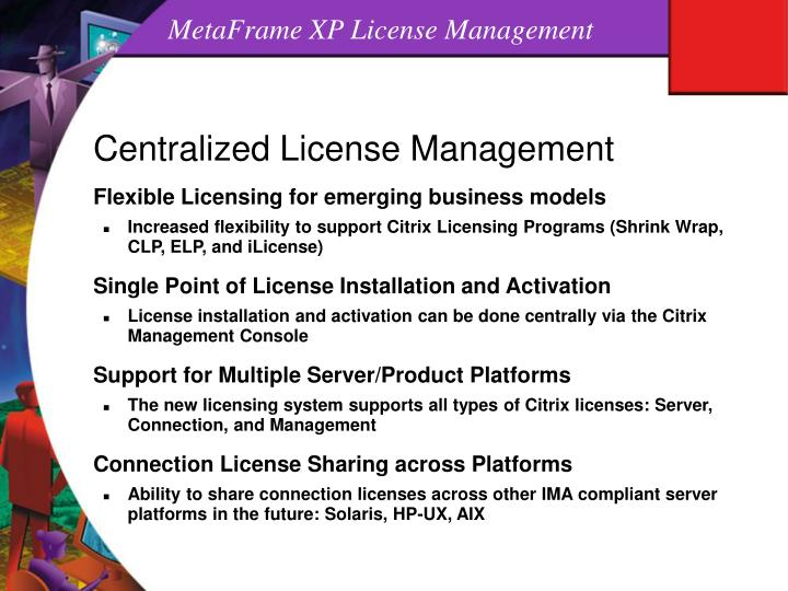 MetaFrame XP License Management