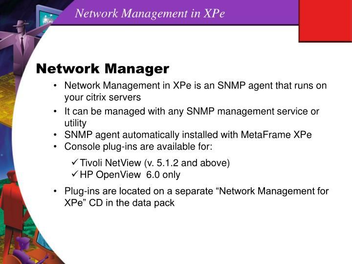Network Management in XPe