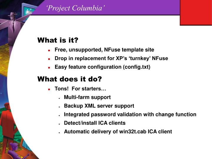 'Project Columbia'