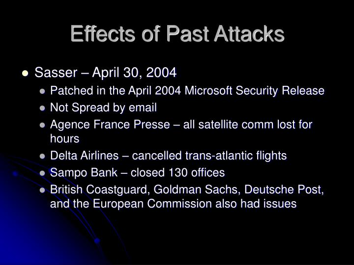 Effects of Past Attacks