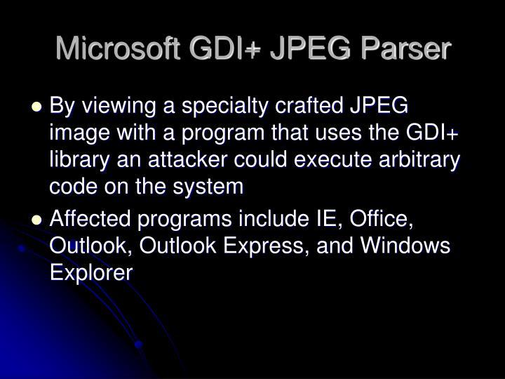Microsoft GDI+ JPEG Parser
