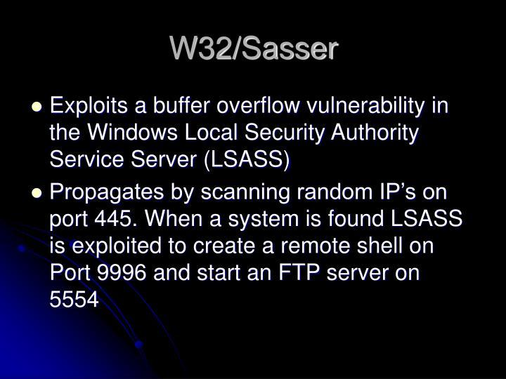 W32/Sasser