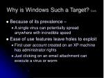 why is windows such a target cont1