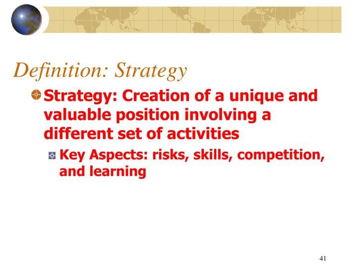 Definition: Strategy