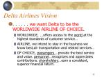 delta airlines vision