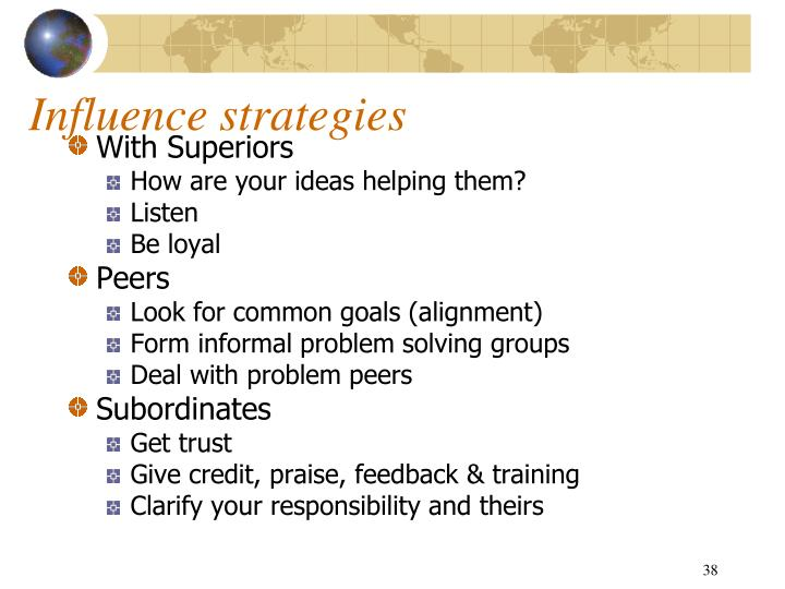 Influence strategies