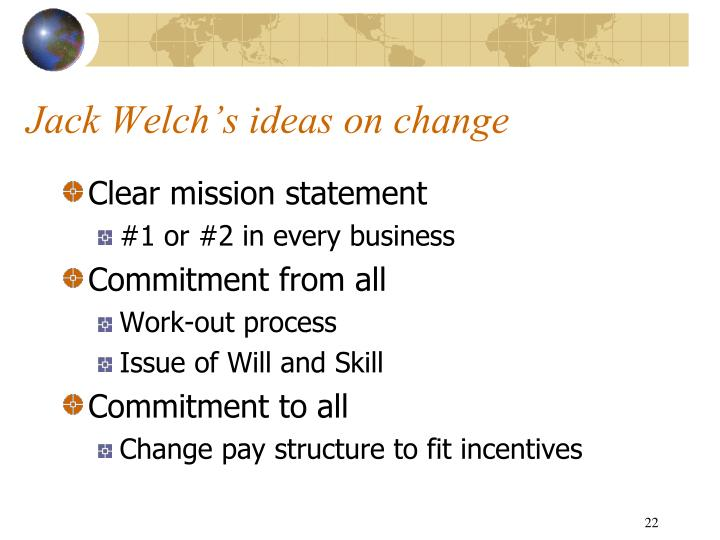 Jack Welch's ideas on change