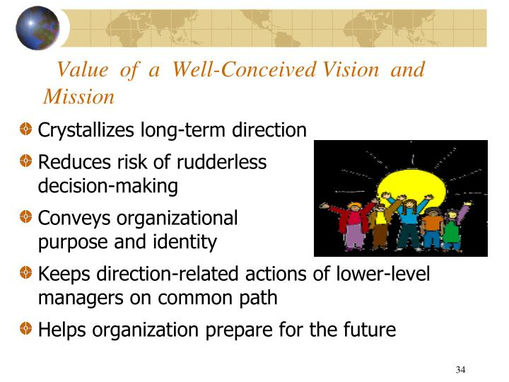 Value  of  a  Well-Conceived Vision  and  Mission