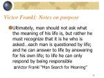 victor frankl notes on purpose