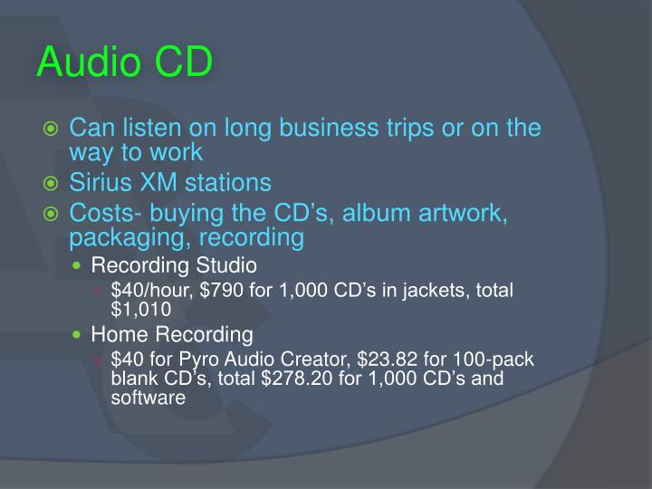 Audio CD