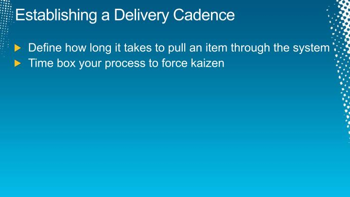 Establishing a Delivery Cadence
