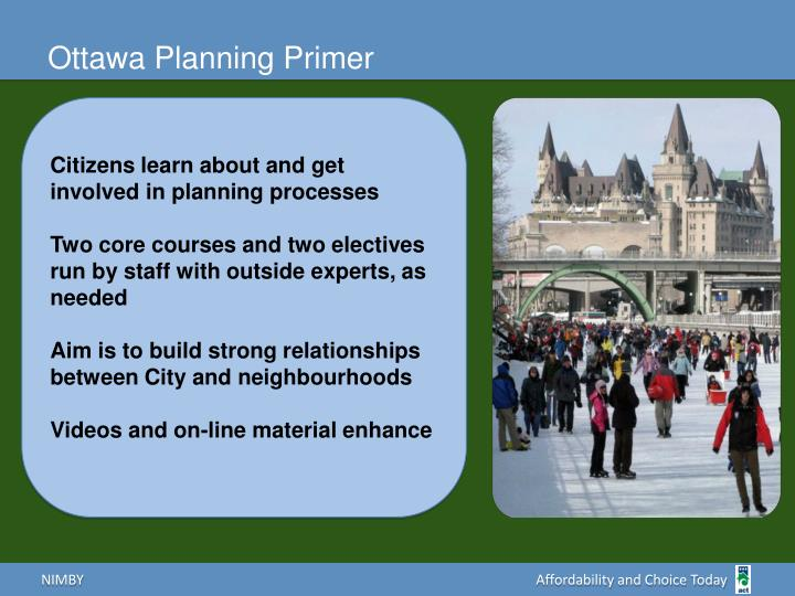 Ottawa Planning Primer