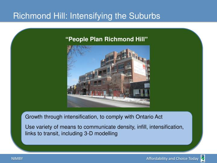 Richmond Hill: Intensifying the Suburbs