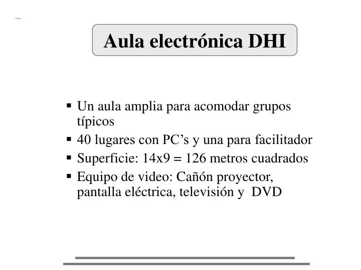 Aula electrónica DHI