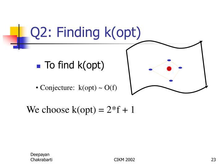 Q2: Finding k(opt)