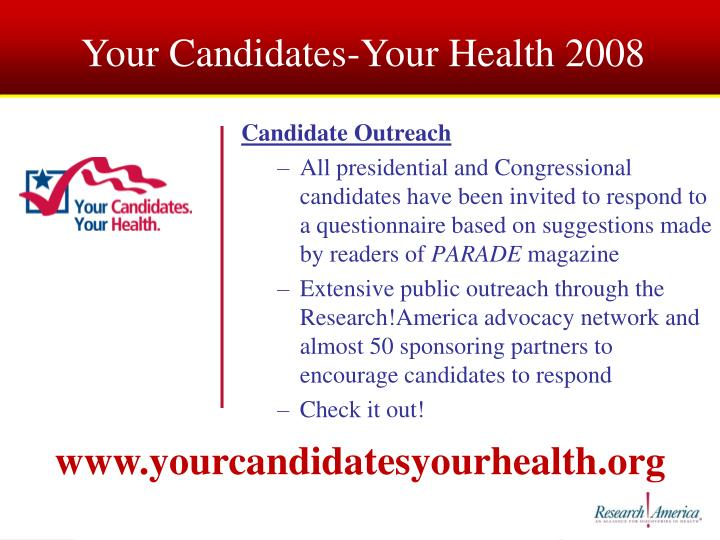 Your Candidates-Your Health 2008