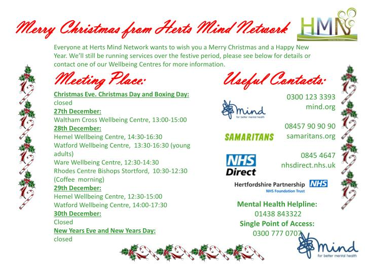 Merry Christmas from Herts Mind Network
