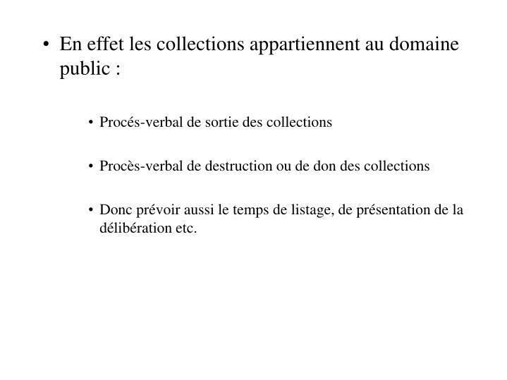 En effet les collections appartiennent au domaine public :