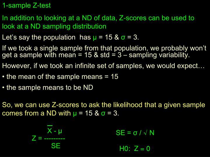 1-sample Z-test