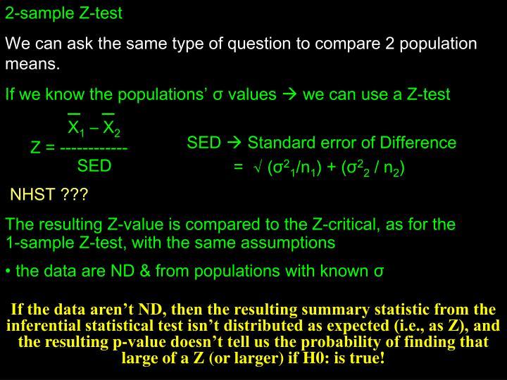 2-sample Z-test