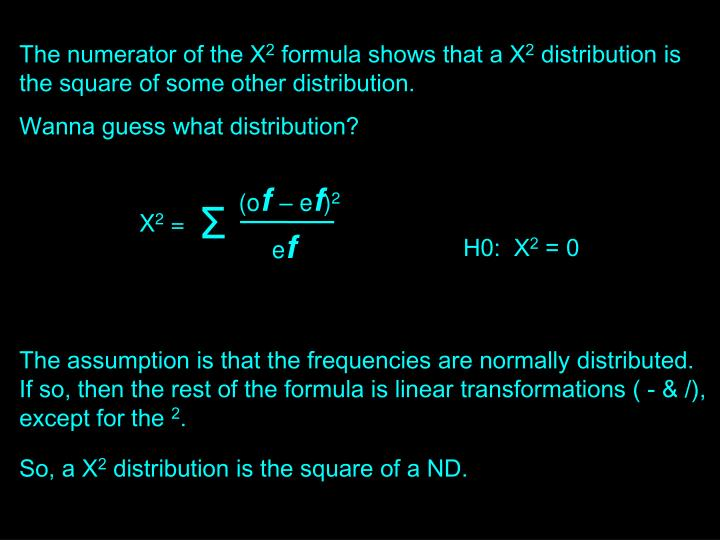 The numerator of the X