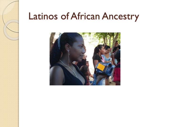 Latinos of African Ancestry
