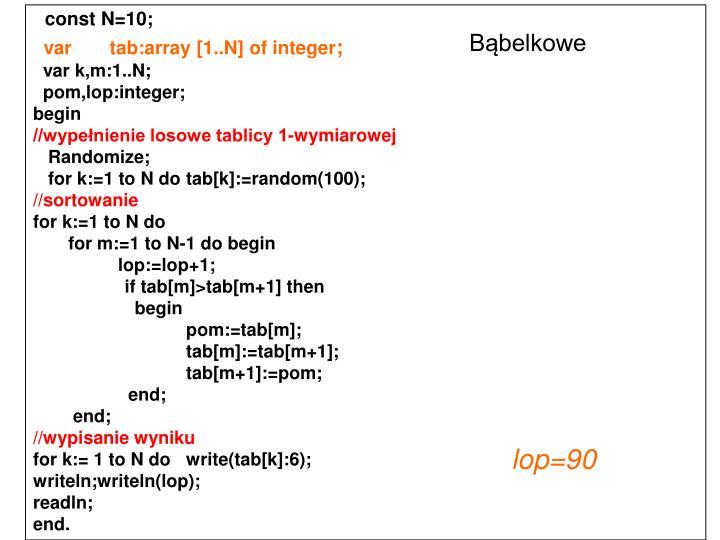 const N=10;