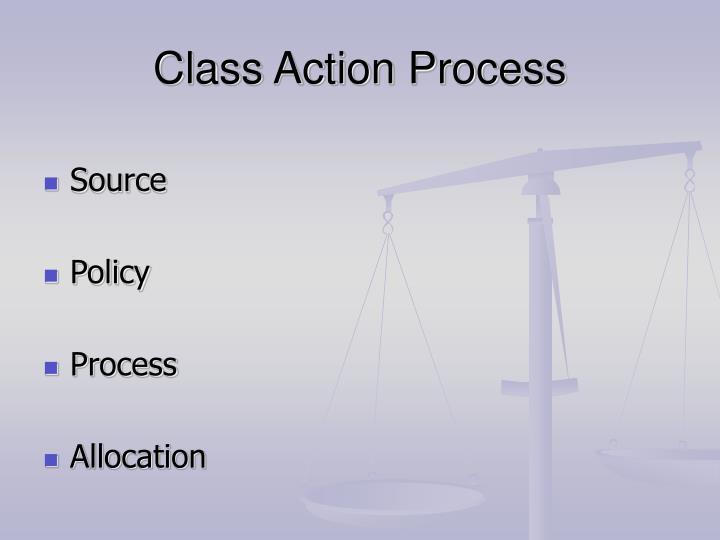 Class Action Process