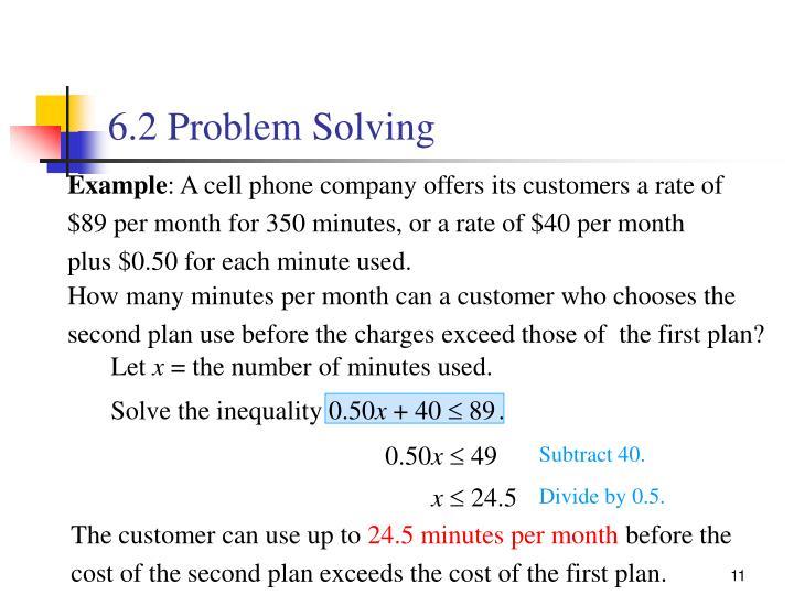 6.2 Problem Solving