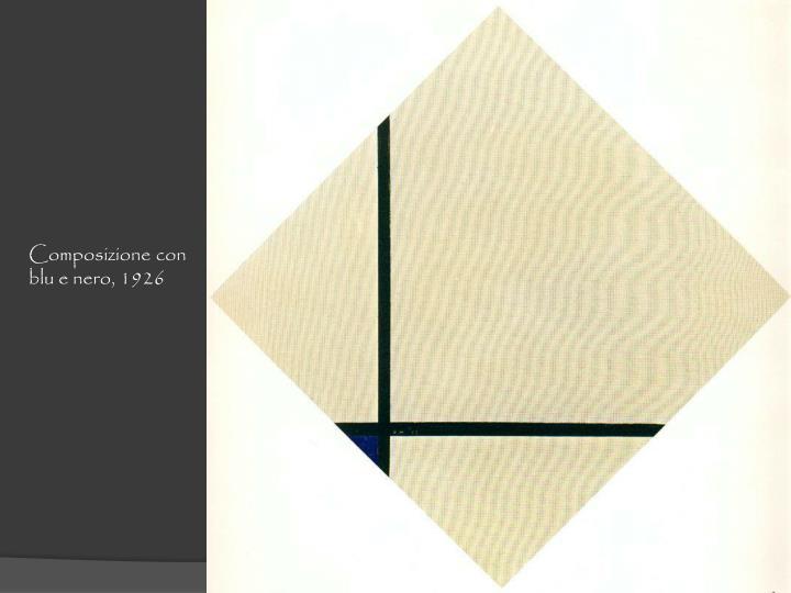 Composizione con blu e nero, 1926
