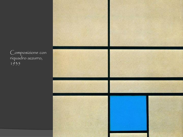 Composizione con riquadro azzurro, 1935