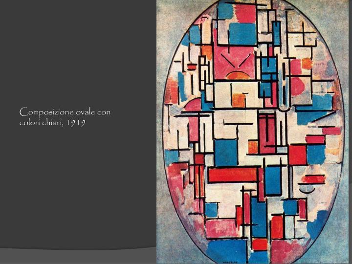 Composizione ovale con colori chiari, 1919