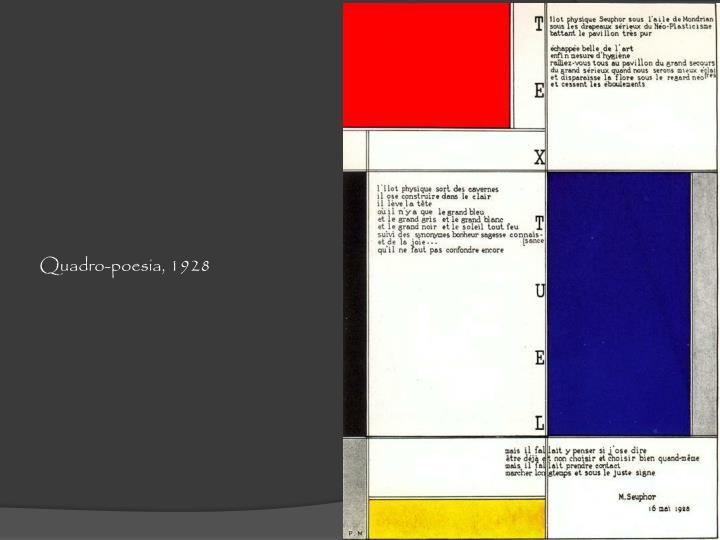 Quadro-poesia, 1928