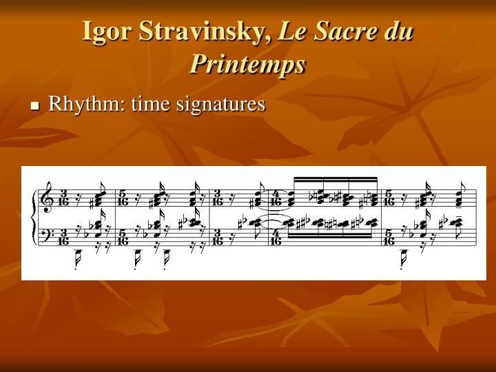 Igor Stravinsky,