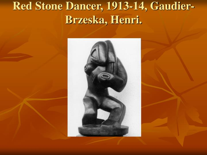 Red Stone Dancer, 1913-14, Gaudier-Brzeska, Henri.