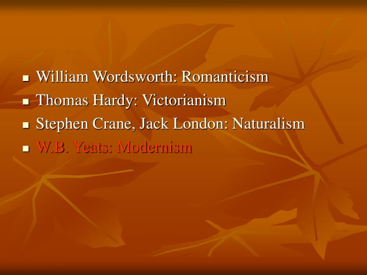 William Wordsworth: Romanticism