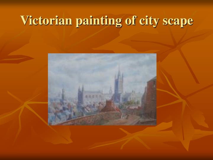 Victorian painting of city scape