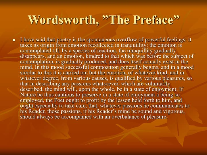 "Wordsworth, ""The Preface"""