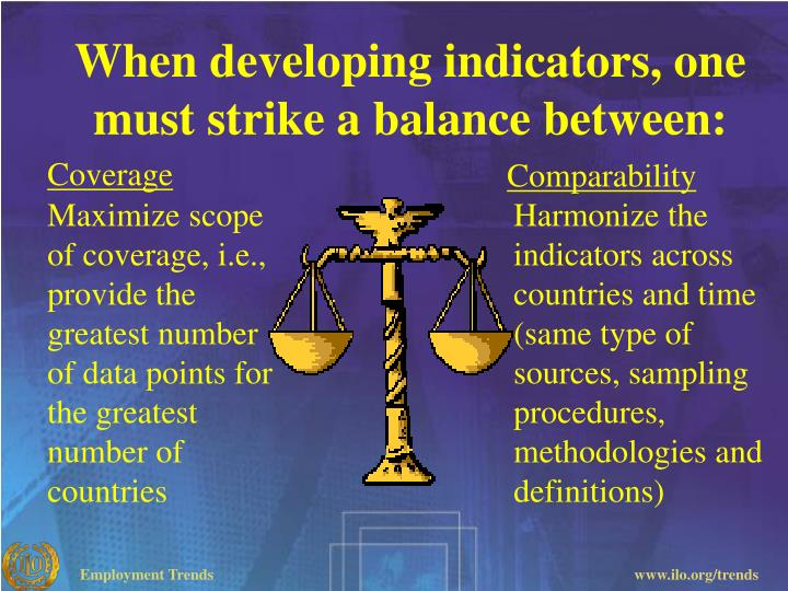 When developing indicators, one must strike a balance between: