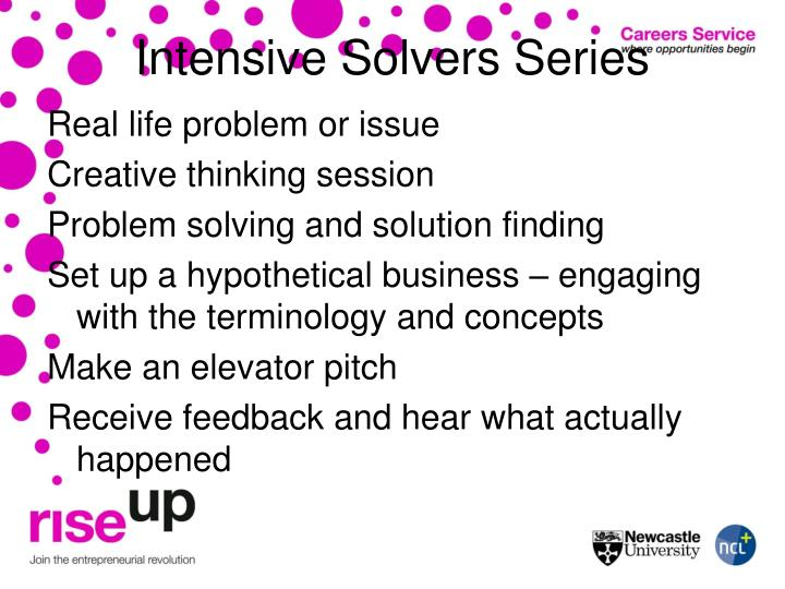 Intensive Solvers Series